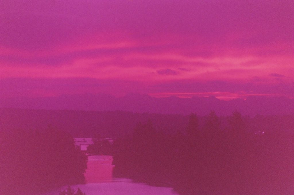 Purple Film Sunset over the montlake cut
