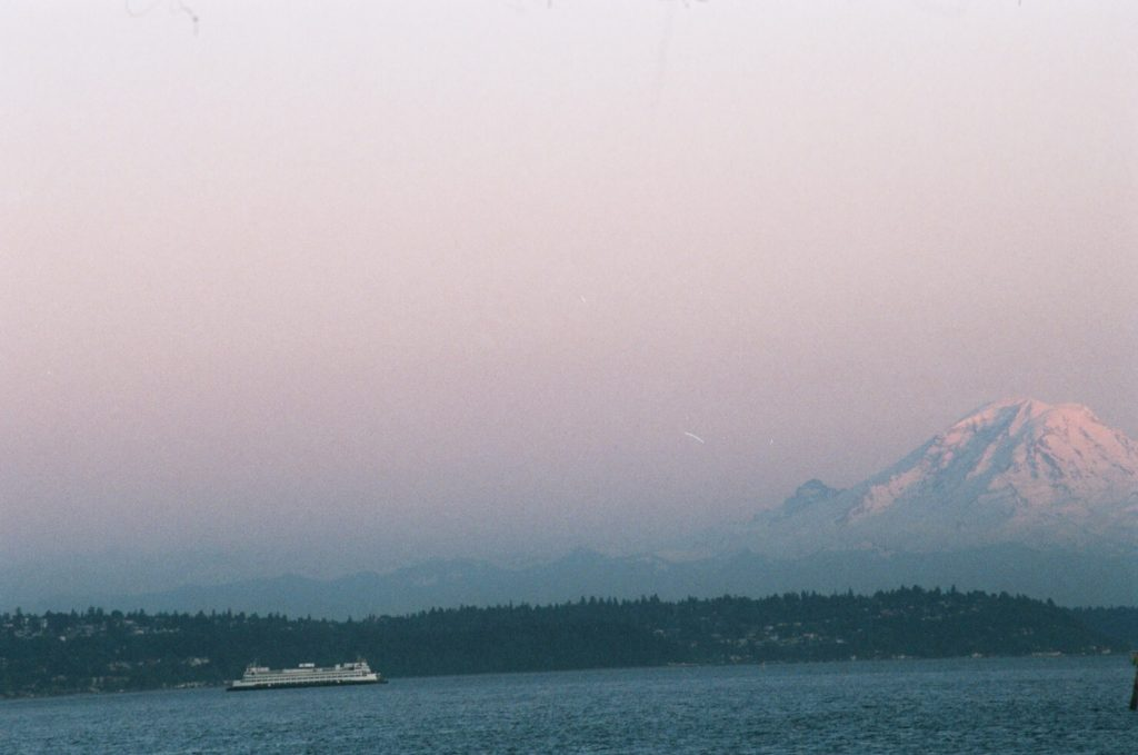 Seattle Ferry View of Mount Rainer