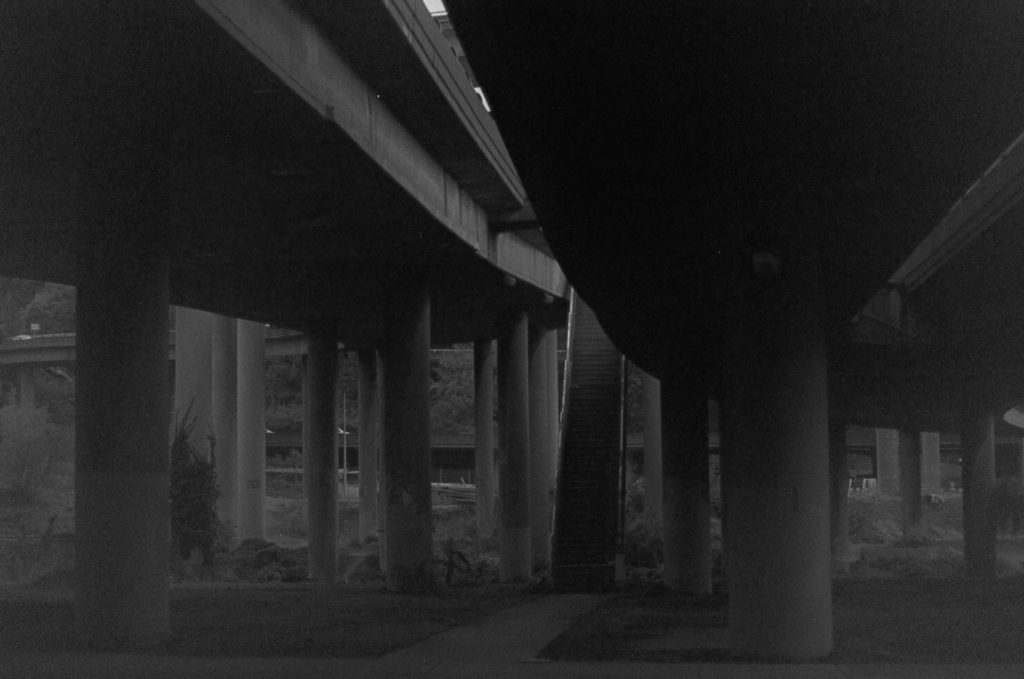 Seattle Overpass in Black and White SODO