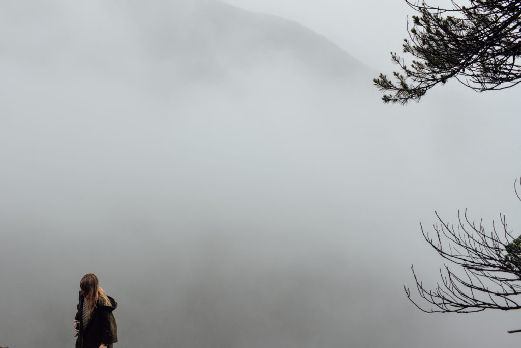Hiking in the mist of Little Si Seattle
