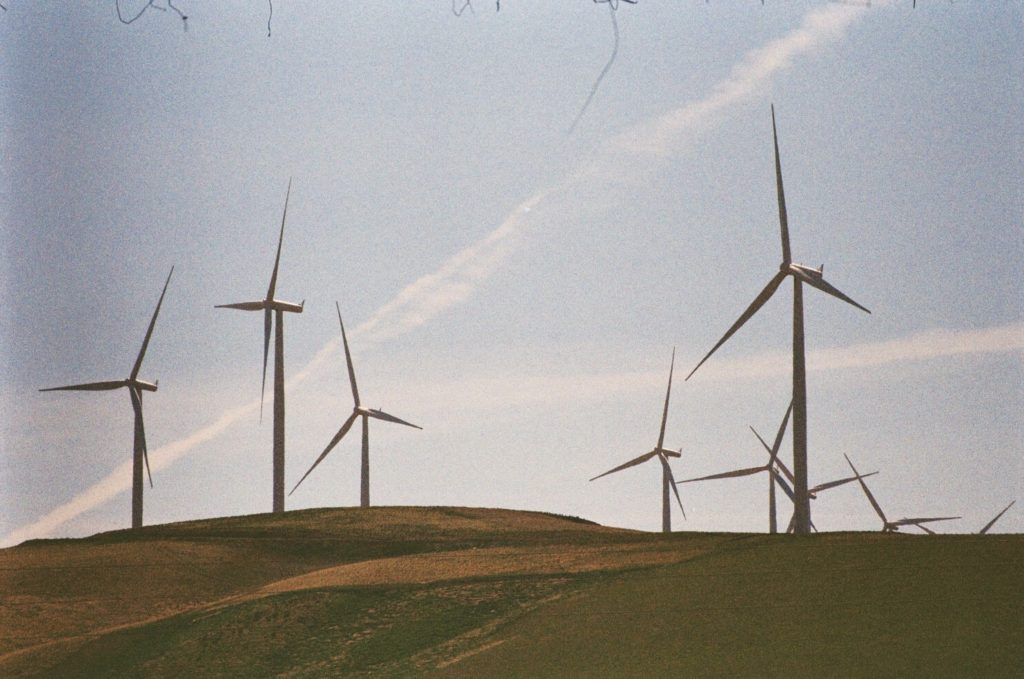 Green Hills and Wind Mills