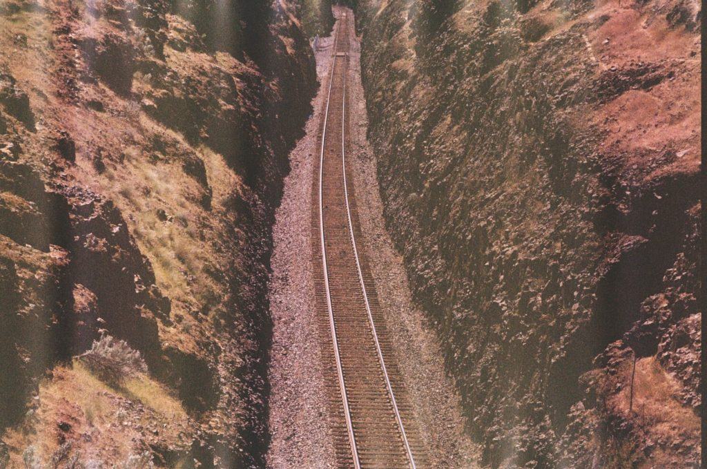 Train Track in Rocks