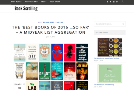 Book Scrolling Website